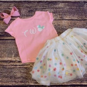2nd Birthday 🎂 outfit custom Disney two size 2t